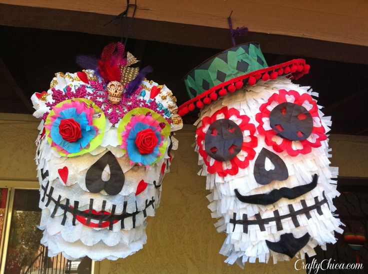 Last week I posted about the DIY Sugar Skull Piñata video I made with Corinne Leigh for About.com, and this weekend, I made a new batch! See the video tutorial here.  I made three of them, here are...