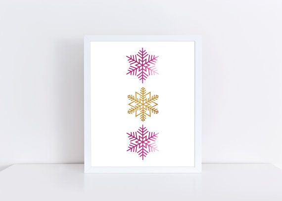 Snowflakes Print Frozen Print Pink and Gold Print Girls