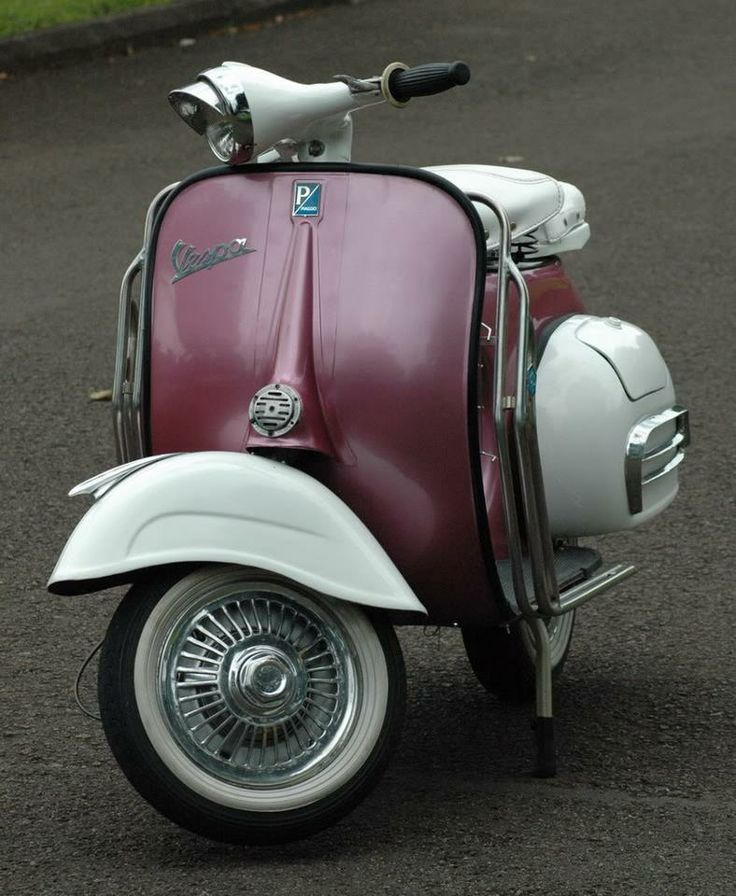 Tricked out Vespa with awesome paint job