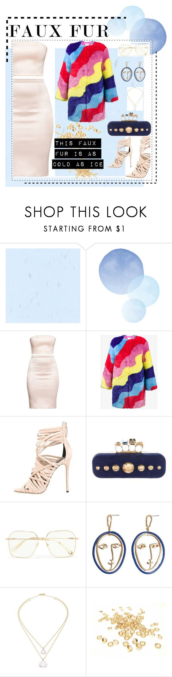 """""""Cold as Ice"""" by queenofself on Polyvore featuring Mira Mikati, Giuseppe Zanotti, Alexander McQueen, Chloé, MANGO, Renee Lewis, trends and fauxfur"""