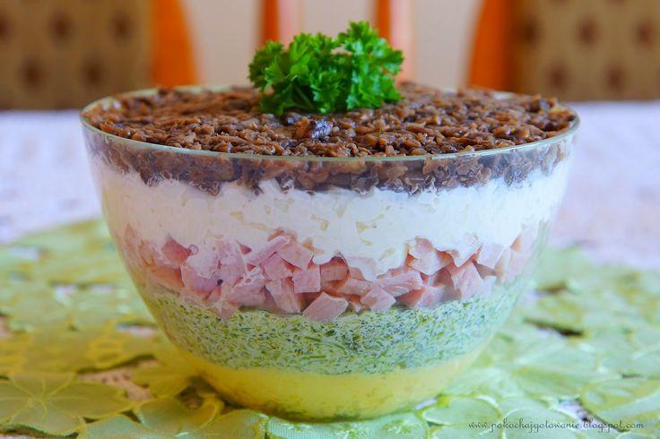 Pokochaj gotowanie: Warstwowa sałatka