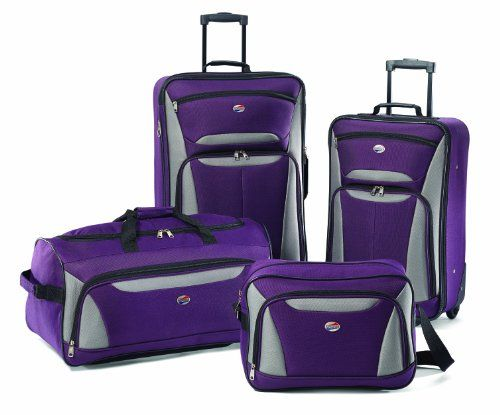 American Tourister Luggage Fieldbrook II 4 Piece Set, Purple/Grey, One Size American Tourister http://www.amazon.com/dp/B00DVIF8IC/ref=cm_sw_r_pi_dp_ffQexb1P874ZZ