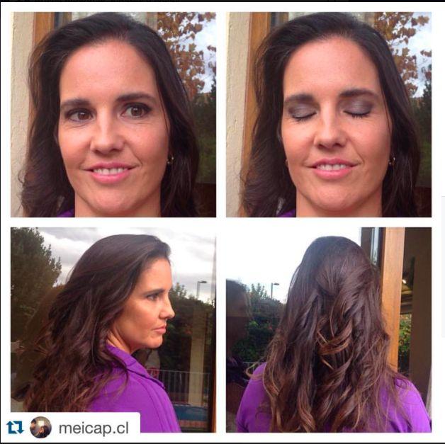 #NaturalSocialMeicapAndHair con Renate M. en peinado para Moira Searle, invitada a un matrimonio