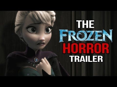 "Watch the video below: | Someone Recut ""Frozen"" As A Horror Movie And It's Way Better Now"