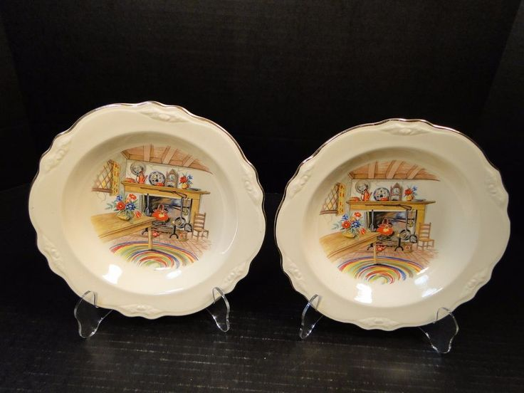 Homer Laughlin Virginia Rose Colonial Kitchen Soup Bowl Pasta 8 1/4 TWO NICE ! #HomerLaughlin