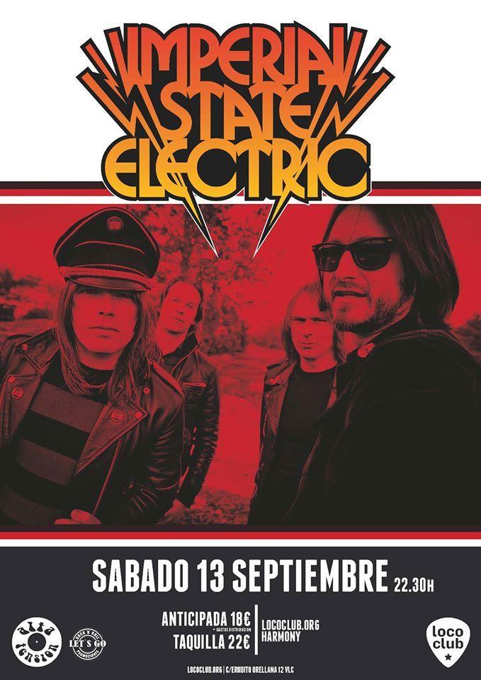 Imperial State Electric el 13 de septiembre en Loco Club. Entradas: http://bit.ly/ImperialStateElectric-13sept-lococlub