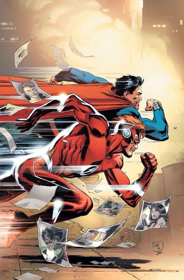 Wally West/Flash vs. Superman.