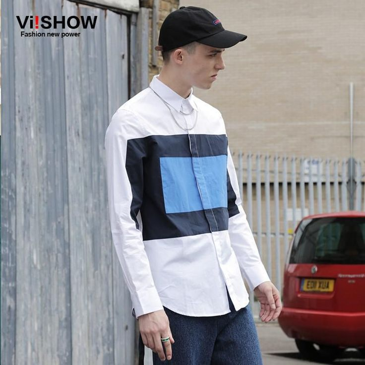 VIISHOW Quality Picks Casual Shirt Men Geometric Long Sleeve shirt slim fit camisas hombre marca Social Blouse Mens Dress Shirt