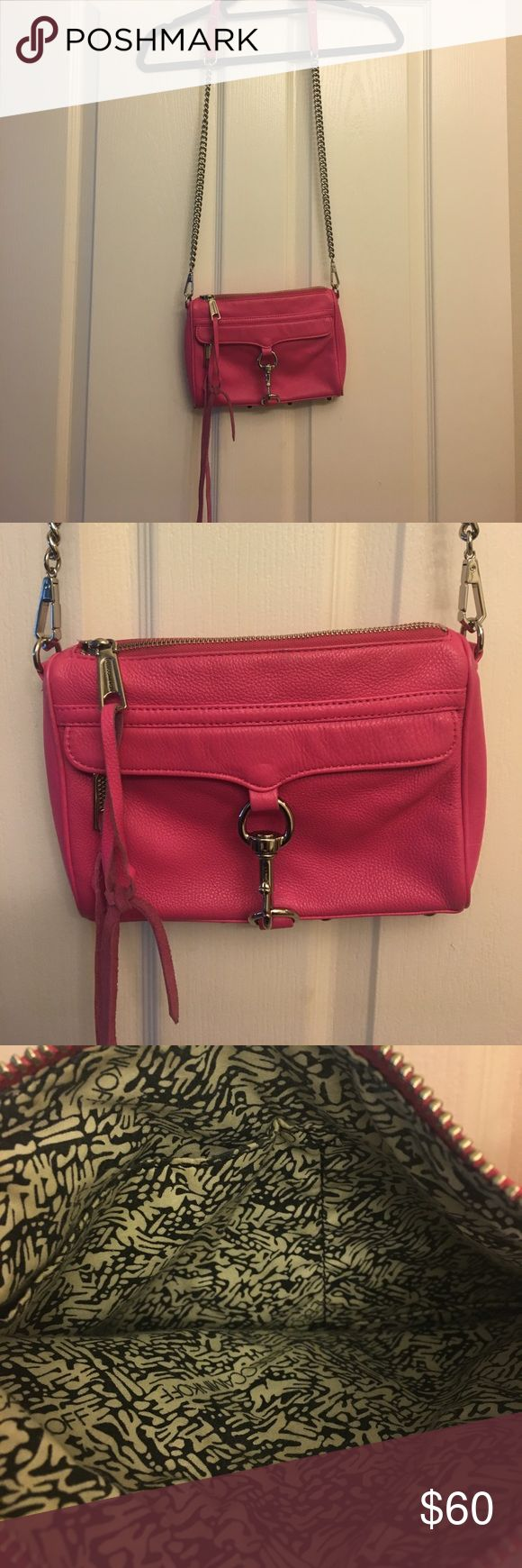 Rebecca minkoff mini Mac pebbles leather pink Pink with silver hardware mini Mac in pebbles leather - comes with dust bag Rebecca Minkoff Bags Crossbody Bags