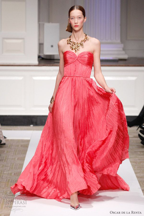 Oscar de la Renta Pre-Fall 2012 - for the bride who wants to defy all convention and go for color!