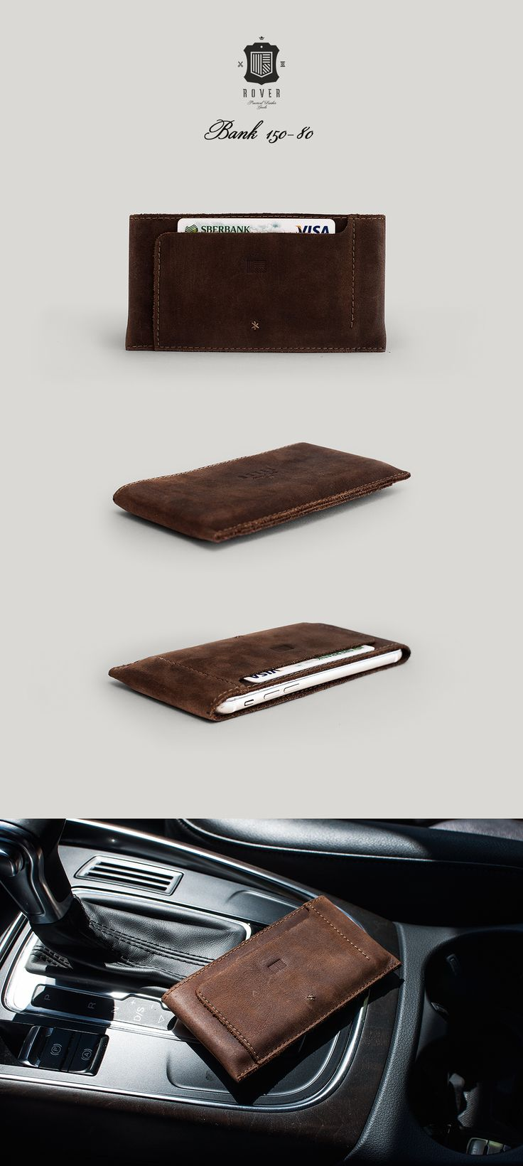 ROVER Bank 150-80 iPhone 6, 6S Leather Cover