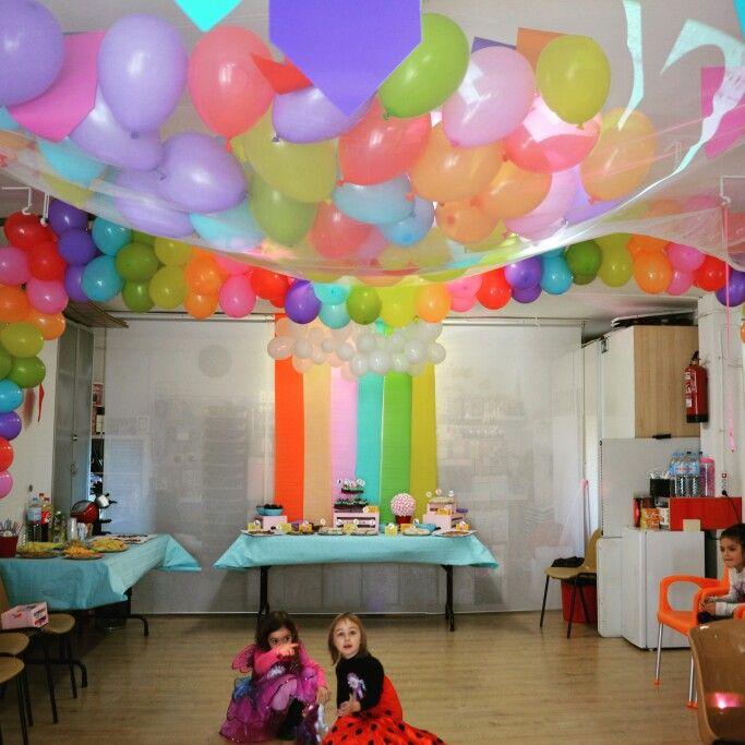 Fiesta my little pony cascada de globos y arcoíris de globos