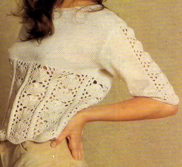 [Tricot] Le petit pull en dentelle - La Boutique du Tricot et des Loisirs Créatifs