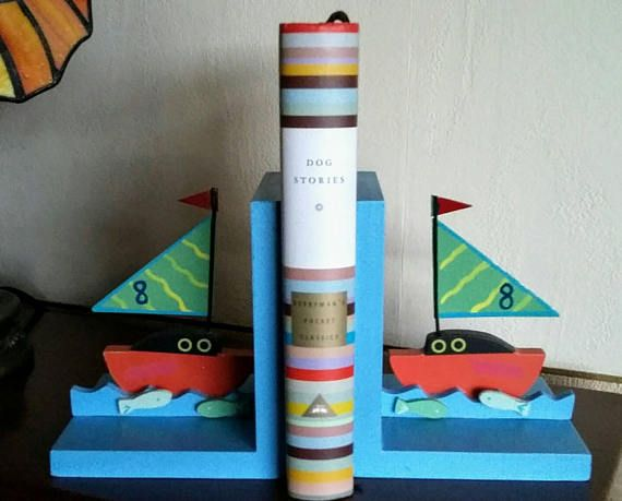 Check out this item in my Etsy shop https://www.etsy.com/uk/listing/589389647/vintage-childrens-sail-boat-bookends