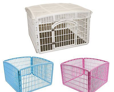 DOG-PLAY-PEN-Iris-Indoor-Outdoor-Puppy-Cage-Exercise-Kennel-Folding-Crate-Fence