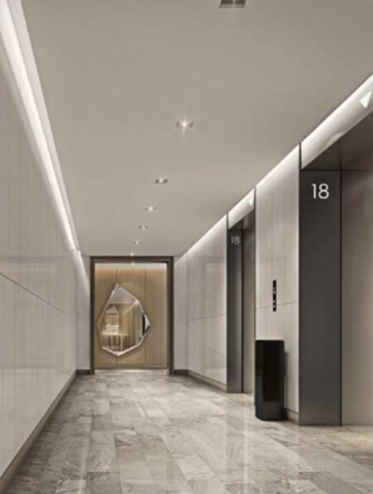 Elegant Elevatory Lobby Of Residential Apartment Building Hotel