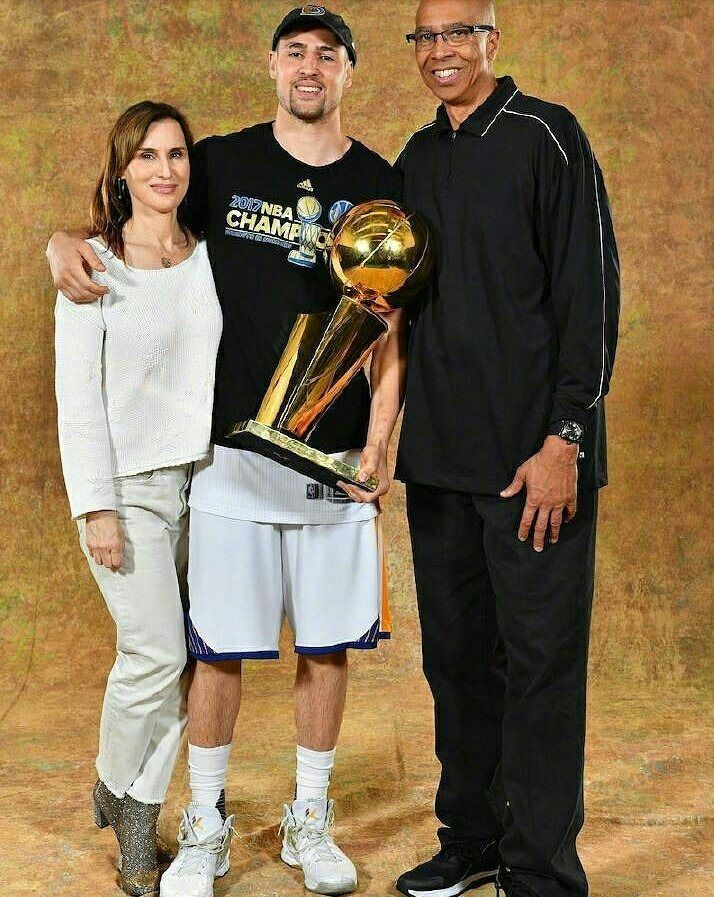 Klay and his parents.