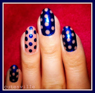 dots: Totally Nailed, Polka Dots, Diy Awesomeness, Fabulous Nails, Cosmetically Speaking, Nail Art, Nail Inspration