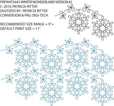 Winter Wonderland Version #2 (Snowflake) Pantograph by Patricia Ritter / Urban Elementz PRPANTO645
