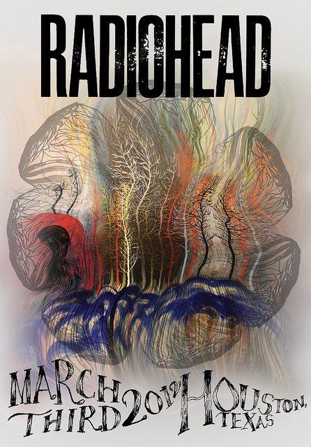 radiohead music gig posters | Radiohead poster | Flickr - Photo Sharing!