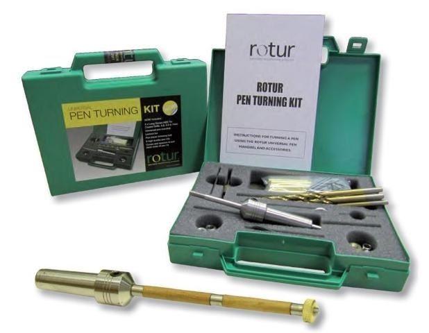 Rotur Pen Turning Kit Woodturning Universal Pen Mandrel Set 1MT PM1K | eBay