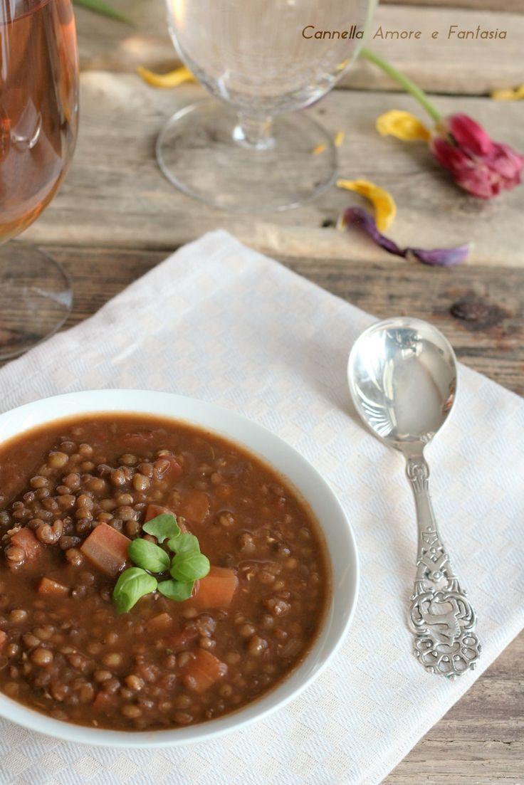 Zuppa di lenticchie alla siciliana ricetta tradizionale