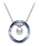 Mikimoto Akoya cultured pearl and sapphires
