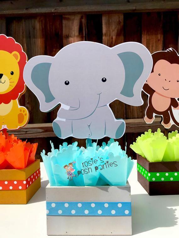 Baby Safari Elephant Centerpiece