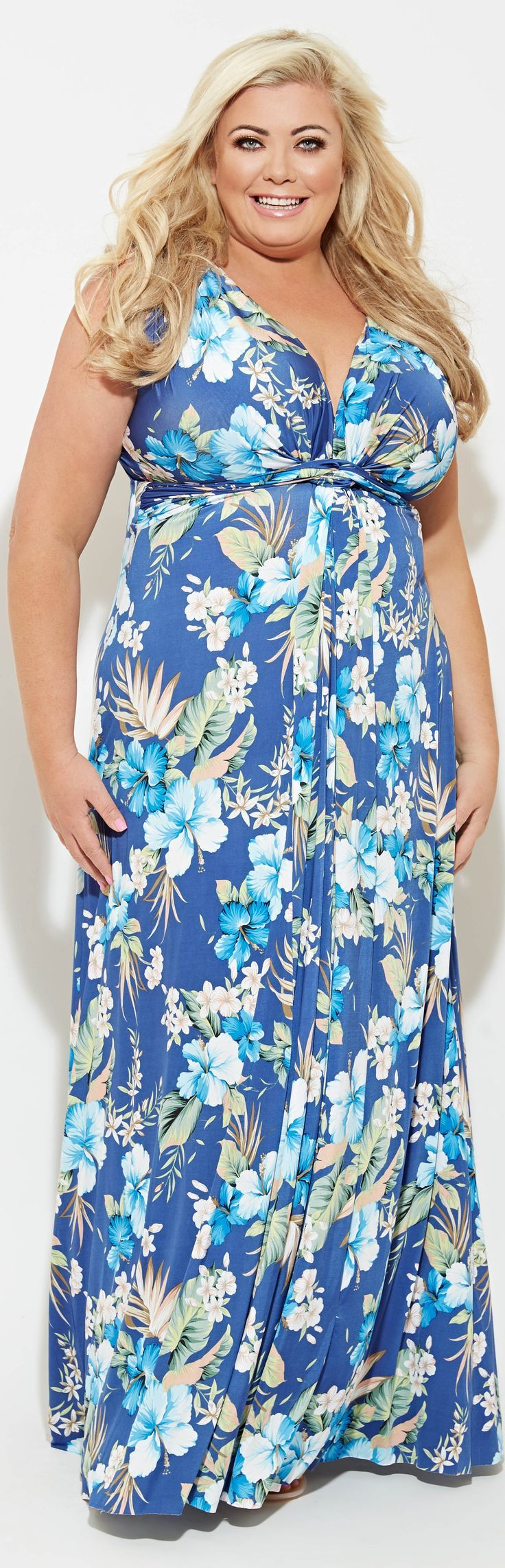 Bildresultat för hawaiian print dress plus size