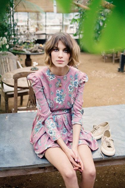 deeply, madly, irrevocably in love with this pink dress.  Okay, and Alexa's hair. superga sneaks ain't bad either.