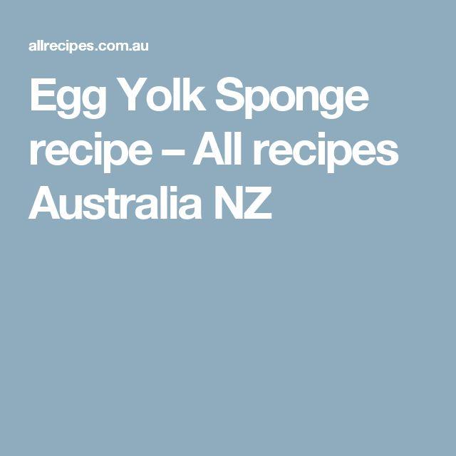 Egg Yolk Sponge recipe – All recipes Australia NZ