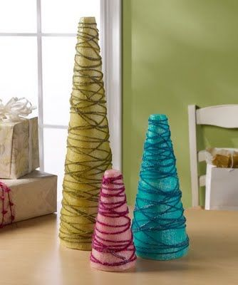 i love all these ideas for DIY christmas trees.
