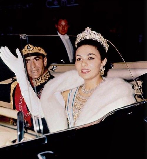 carolathhabsburg:  Shah Mohammed Reza Pahlevi with his consort, Farah Diba. 1960s