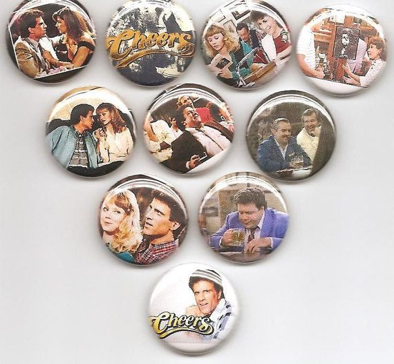Cheers TV Show Set of 10 Pins Button Badge Pinback