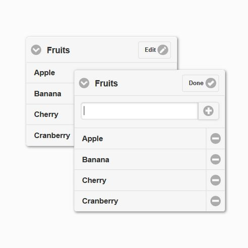 jQuery Plugin: Editable Listview A jQuery Mobile Plugin with an intuitive UI to add new list items and remove existing ones. #html   #css   #jqueryplugins   #html5   #css3