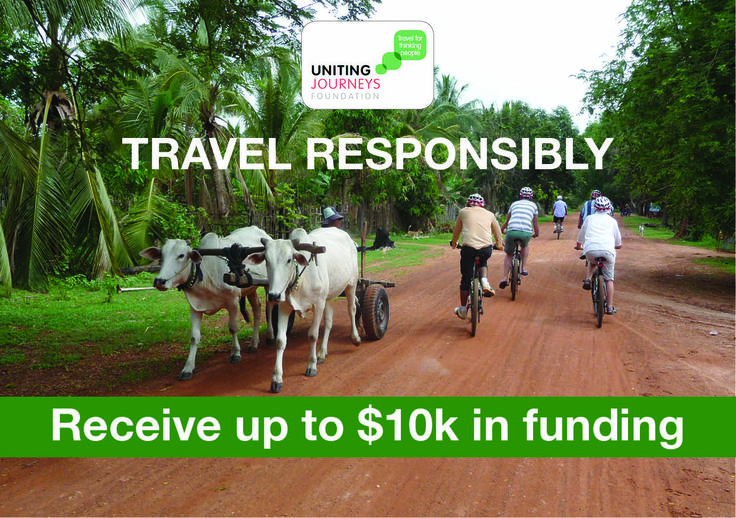 Uniting Journeys want to make your 'Responsible Travel' dream a reality! Applications are now open for $10,000 group travel grants — all you need to do is present your responsible travel idea, and your group could be part funded to go to Cambodia, Laos or Vietnam!   Click here for more info on the Uniting Journeys Travel Grants Program: www.responsibletravel.org.au/grants-program-2014/  #10kToTravel #travel #responsibletravel #unitingjourneys