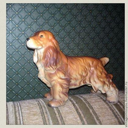 Купить или заказать Винтажная статуэтка кокер спаниеля в интернет-магазине на Ярмарке Мастеров. Винтажная статуэтка кокера, 15 см в длину.. состояние отличное, собака - добрейшая душа. Сделана из керамики (глазурованный фарфор). Для любителей верных друзей.