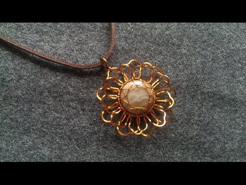 How To Make Flower Pendant Wire Wrapping Jewelry Making