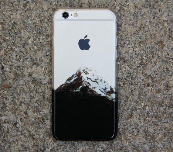Crystal Transparent Snow Mountain iPhone 6 Case,iPhone 5S/5 Case,iPhone 5C Case Clear iPhone Case