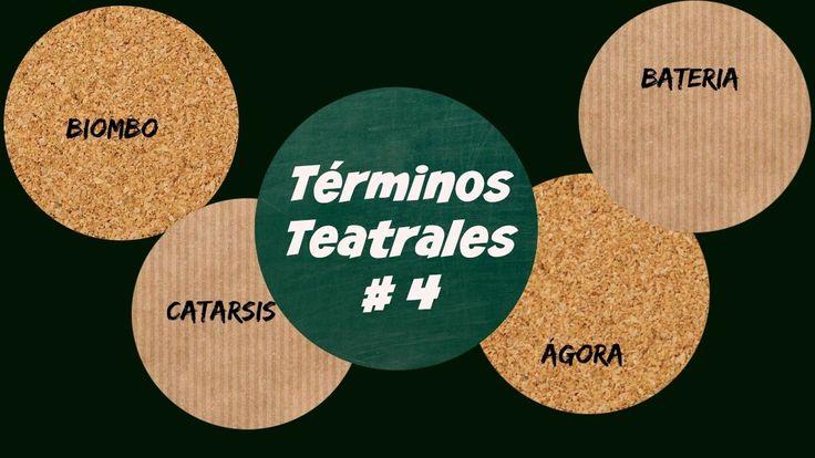 TÉRMINOS TEATRALES#4---Ágora/ Anfiteatro/ Biombo/ Bateria...etc.