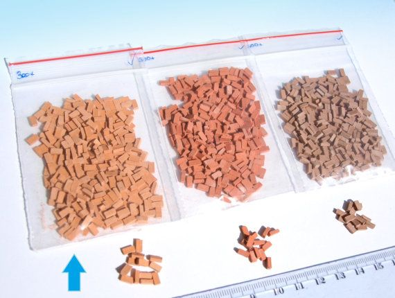 300 Orange Miniature Bricks O Scale 1 48 For Dolls House Etsy In 2021 Miniatures Doll House Diorama
