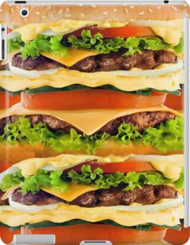 Burger Me! iPad Case - Available Here: http://www.redbubble.com/people/rapplatt/works/12600050-burger-me?p=ipad-case