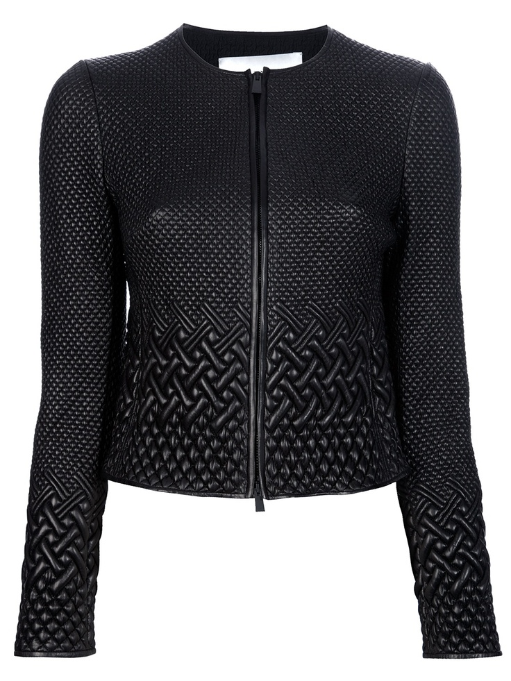 Black leather jacket from Valentinto