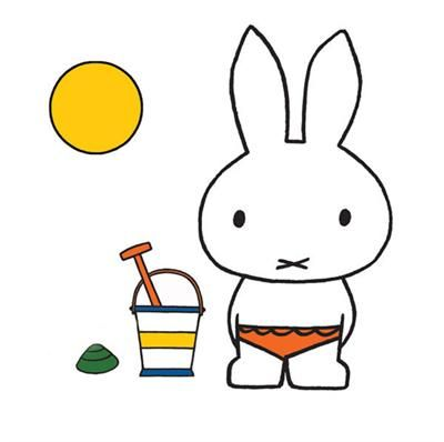 Miffy At The Beach, Official Collector's Limited Edition Illustrative Lithographic Print by Dick Bruna, Yard Gallery