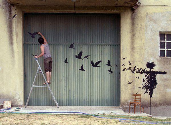 Silvestre Pejac http://restreet.altervista.org/la-street-art-minimalista-di-pejac/
