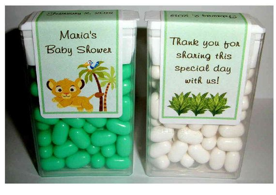 28 Lion King Baby Simba Baby Shower Favors Tic Tac by FAVORSXPRESS