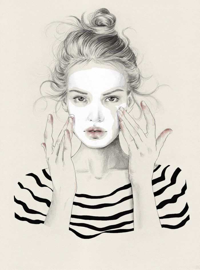 Esra Røise // NYLON magazine - 86 #illustration #painting #drawing
