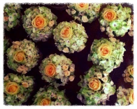 Centrotavola ortensia, rose e roselline!