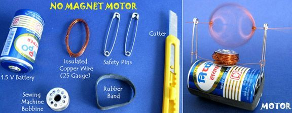 Science from Trash: Build a Simple No Magnet Motor