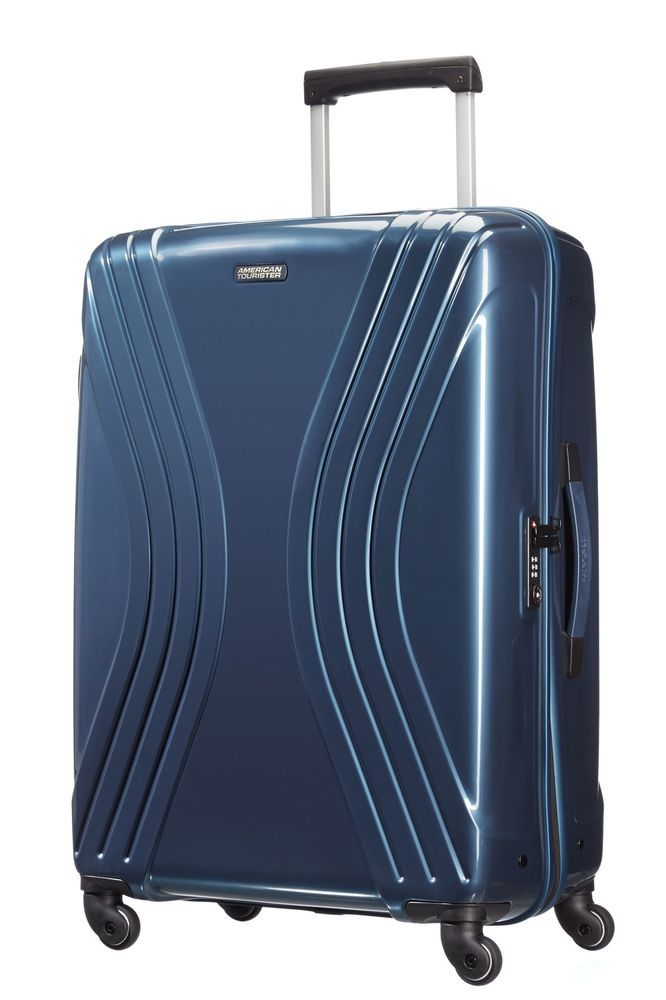 American Tourister Vivotec Large 4 Wheel Suitcase - Blue. in Home, Furniture & DIY, Luggage & Travel Accessories, Luggage   eBay